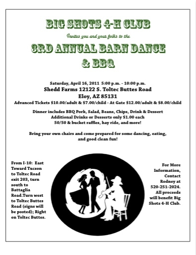 Barn Dance Flyer 2011